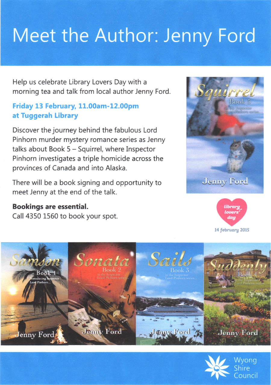 MeetThe AUthorTUggerahLibrary13Feb